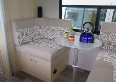 Two tone motorhome seating
