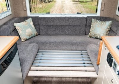Motorhome customised seating and bedding
