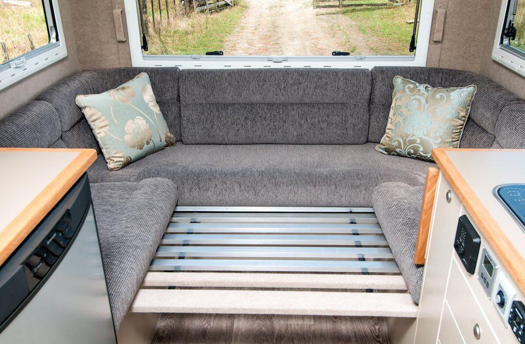Motorhome Customised Seating And Bedding. Motorhome Interior