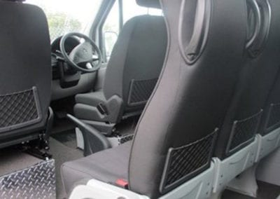 Custom trimmed minivan seats