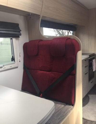 Second row seat in motorhome
