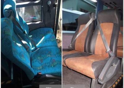 Refurbished bus seats